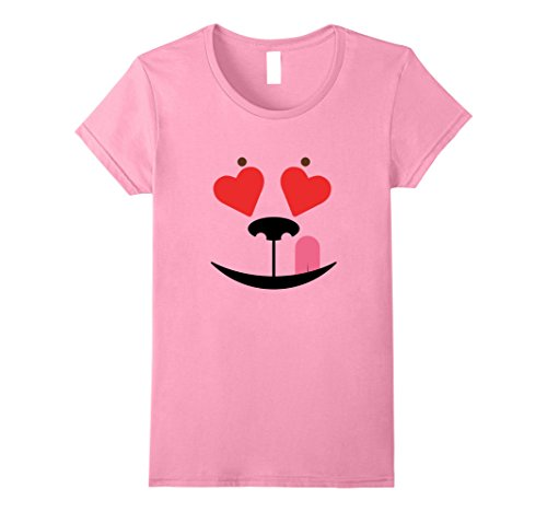 Costumes Con Comic Make For To Easy (Womens Dog Halloween Costume Emoticon Licking Woof Heart Tee Shirt Large)