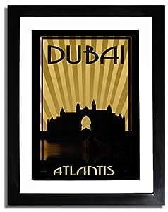 Atlantis - Sepia F07-nm (a4) - Framed