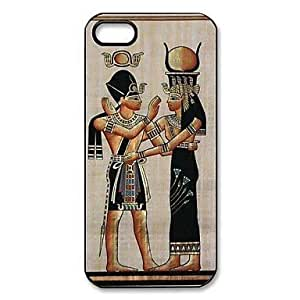 Case for Iphone - Egyptian Goddess Hathor Pattern Plastic Hard Case for iPhone 5/5S Designed by HnW Accessories