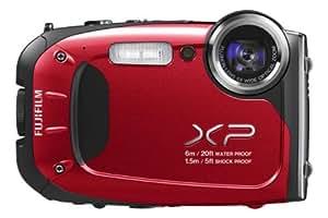 """Fujifilm Finepix XP60 - Cámara compacta de 16.4 Mp (pantalla de 2.7"""", zoom óptico 5x, estabilizador óptico), rojo"""