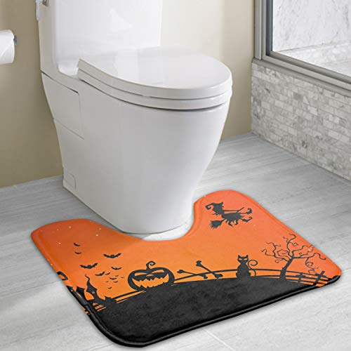 Non Slip Halloween Backgrounds Pictures Bath mat for