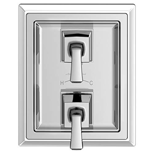 American Standard T455740.002 Town Square S Two-Handle Thermostat Shower Valve Trim Kit, Polished (Two Handle Thermostat)