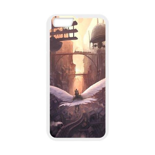 Steam Cityscapes Birds coque iPhone 6 4.7 Inch cellulaire cas coque de téléphone cas blanche couverture de téléphone portable EEECBCAAN01387