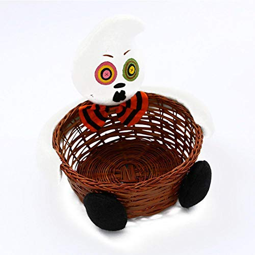 Halloween Decoration Doll Bowl Decoration Bar KTV Layout Supplies Candy Biscuits Fruit Vegetables Storage Basket Container Organizer Box Natural Food and Snacks Gift Basket