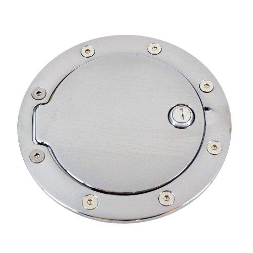 6096PL Polished Billet Aluminum Locking Fuel Door