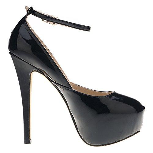 Loslandifen Scarpe Da Donna Con Cinturino Alla Caviglia Con Tacco Alto E Cinturino Alla Caviglia
