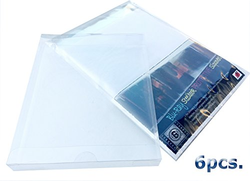 P&F Blu-ray Steelbook Jewel Plastic Sleeves Cases - Bluray Protective Slipcovers (pack of - Movie Dvd Sleeves