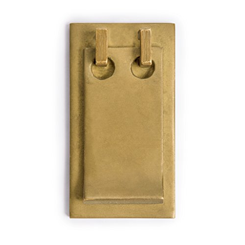 Brass Solid 3' Pull Backplate (Tab Pulls 3'' - Set of 2)