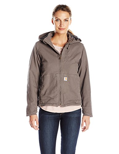Carhartt Women's Full Swing Caldwell Stretch Sandstone Jacket, Taupe Gray, X-Large -