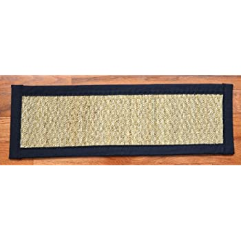 Dean Non Slip Seagrass Beige Natural Fiber Carpet Stair