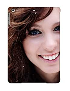 8ff3a2a2269 Premium Brunettes Women Closeup Blue Eyes Smiley Curly Hair Faces Taylor Mccutchan Back Cover Snap On Case For Ipad Air