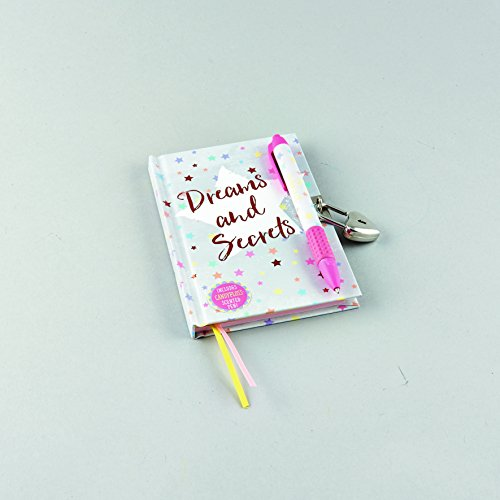 Floss & Rock Dreams & Secrets Lockable Diary With Snifty Scented Pen In Candy Floss by Floss & Rock