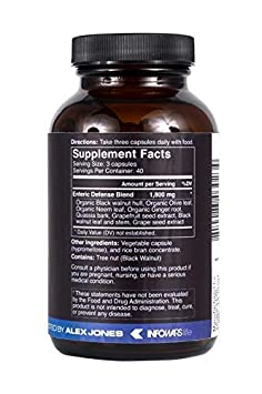 Infowars Life – Living Defense Plus 120 Capsules Full Body Natural Cleanse Detox Support Promotes Healthy Digestive System