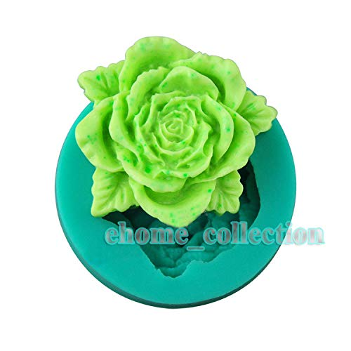 1 piece 3D Rose Peony Silicone Mold Soap Fondant Candle Molds Sugar Craft Decoratiing Mould Tools For Cake Cupcake