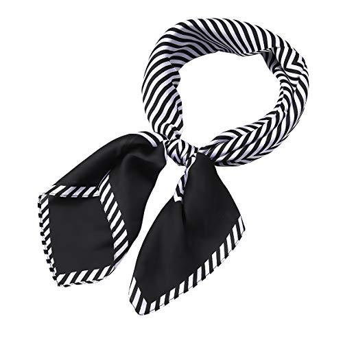 - AOLIGE Hair Scarf Satin Head Neck Scarfs for Women (strip black)