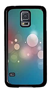 Samsung Galaxy S5 Dreamy White Circle And Light Green Background PC Custom Samsung Galaxy S5 Case Cover Black