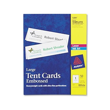 Avery - 5309 - Tent Cards, Inkjet/Laser, Large - 50 Cards