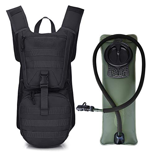 G4Free Military Tactical Hydration Pack Water Backpack with 3L Upgraded Bladder for Hiking Running Cycling