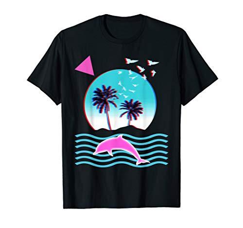 Palm Tree Sunset Vaporwave Aesthetic 80s 90s Glitch