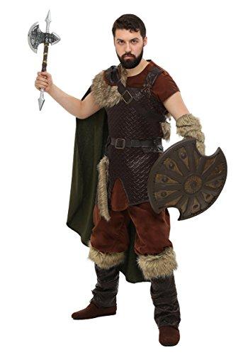 Plus Size Nordic Viking Costume 4X Brown]()