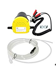 Acouto 12V 60W Oil Change Pump Extractor,Oil/Diesel Fluid Sump Extractor 250L/Hour Transfer Pump for Motorcycles Vans Cars Quads and other 12V Vehicles