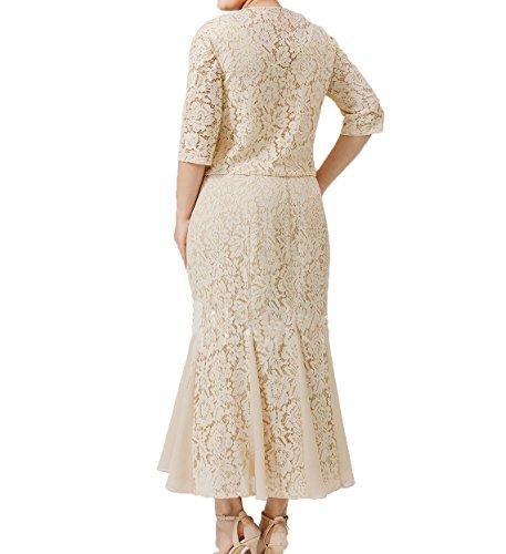 mit Promkleider Wunderschoen Spitze Charmant Festlichkleider Brautmutterkleider Abendkleider Damen Wassermelon Jaket Damen qHx0Iwf