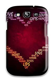 Top Quality Case Cover For Galaxy S3 Case With Nice Pretty Heart Appearance