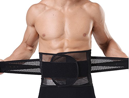 Zcargel Hot Sale Super Breathable Superelastic Men's Slimming Shaper Belt Abdominal Binder Lumbar Support Belt Back Support Brace Band