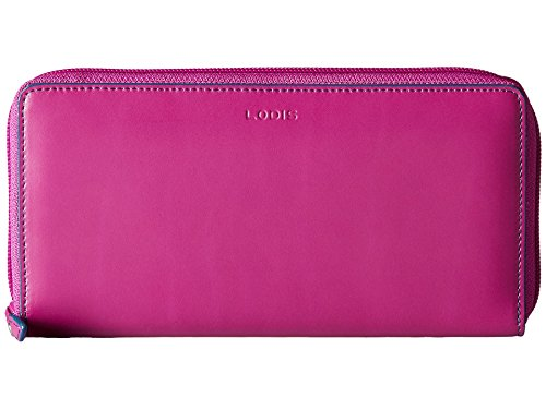 Lodis Accessories Women's Audrey Iris Zip Around Plum/Indigo Checkbook Case