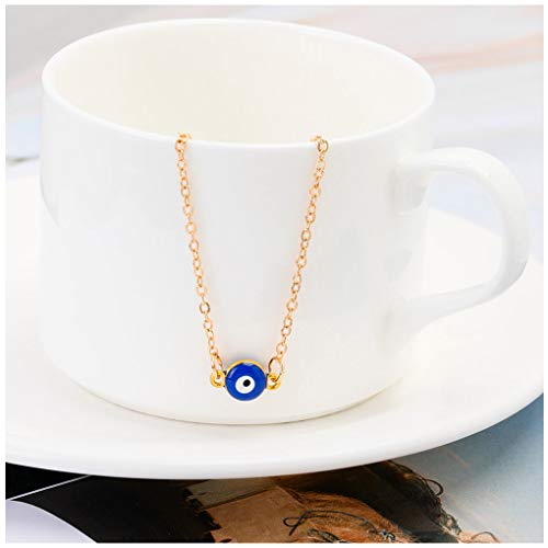 Bracelet Anklet Eye Ankle - Olbye Evil Eye Anklet Bracelet Protection Minimalist Anklets for Women and Girls Beach Foot Chain Jewelry Summer Foot Chain Accessories (Gold)