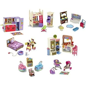 Fisher Price Loving Family Dollhouse Furniture ~ Lot Of 7 Sets