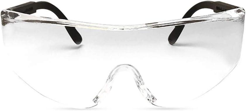 ADUEYE Protección de los Ojos Gafas de Seguridad Laboratorio de Química Gafas a Prueba de Polvo Gafas Anti-Choque Gafas Anti-arañazos Anti-Niebla (Color : Clear)