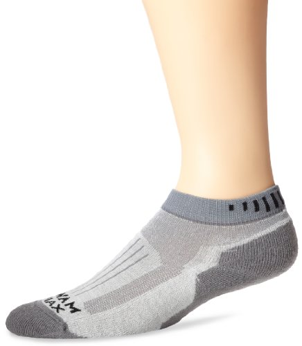 (Wigwam Men's Merino Ridge Runner Pro Quarter Socks, Light Grey, Sock Size:10-13/Shoe Size: 6-12)
