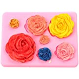 Silicone Mold for DIY Handmade Chocolate, Cake, Essential Oil Soap, Oven Applicable Epoxy Fondant Mold (Rose)