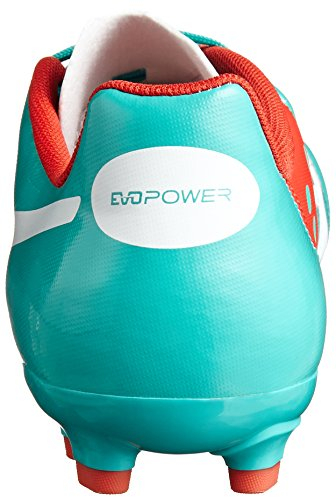 Puma Botas de Fútbol evoPOWER 4 AG Pool green-White-Grenadine-Turbulence