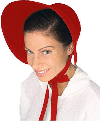 Wool Bonnet (Forum Women's Wool Felt Bonnet, Red)