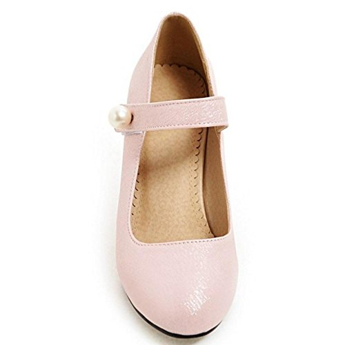 JOJONUNU Femmes pink Mary Escarpins Jane rwxr0qYpB