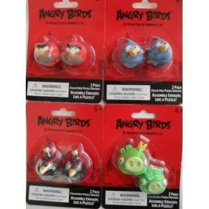 Angry Birds Puzzle Eraser Set Party Accessory by UPD