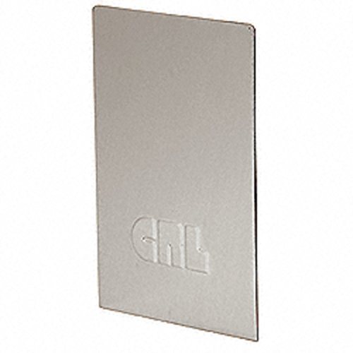 CRL L68SECBS Brushed Stainless End Cap for L68S Series Laminated Square Base Shoe