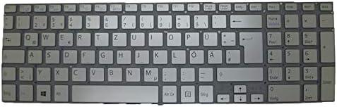 Laptop Keyboard for Sony VAIO SVF15A V141306CK1GR 149241931DE AEGD6G001203A Germany GR Silver