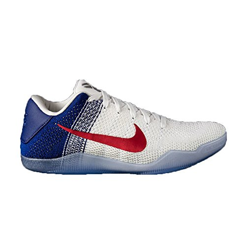 Nike Men's Kobe XI Elite Low, White/University RED-DEEP Royal Blue, 9.5 M US