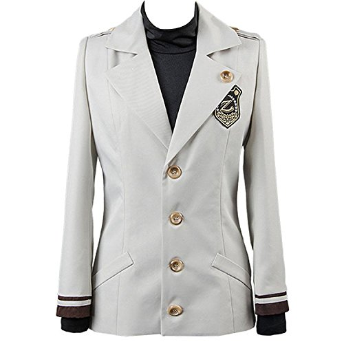 [mingL Cosplay Boy Men's Ryu Hyun Cosplay Costume Jacket Shirt Suit Blazer Uniform] (Ryu Costume)