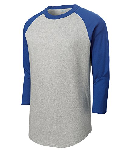 - Mens Or Youth 3/4 Sleeve 100% Cotton Baseball Tee Shirts Youth S to Adult 4X HE/Roy-XXL