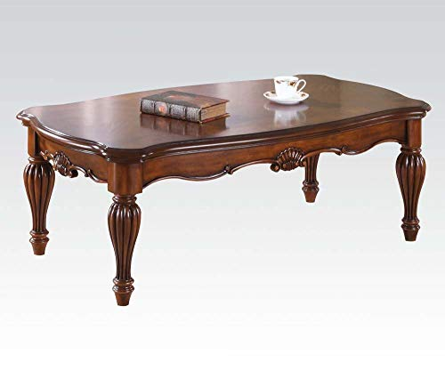 ACME 10290 Dreena Coffee Table, Cherry - Tables Barn Pottery Console