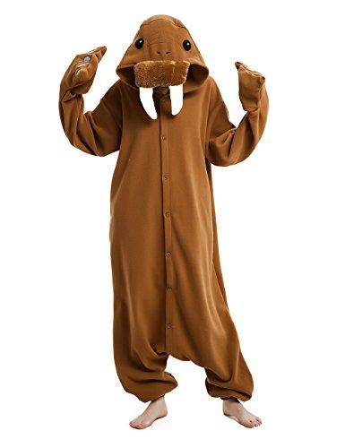 cosMonsters Adult Onesies Cosplay Pajamas: Walrus Hood Animal Onesie Furries Pajamas for Men & Women]()