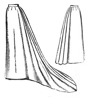 Edwardian Sewing Patterns- Dresses, Skirts, Blouses, Costumes 1892 Umbrella Skirt with Train Pattern                               $15.40 AT vintagedancer.com