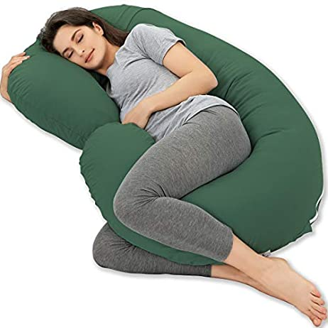 """Marine Moon Pregnancy Pillow, Maternity Body Pillow with 100% Cotton Cover (Aubergine, 59"""") 1"""