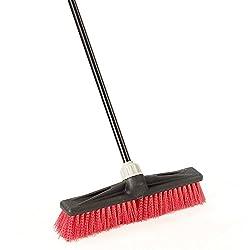 O-Cedar Professional 18' Rough-Surface Push Broom, Red