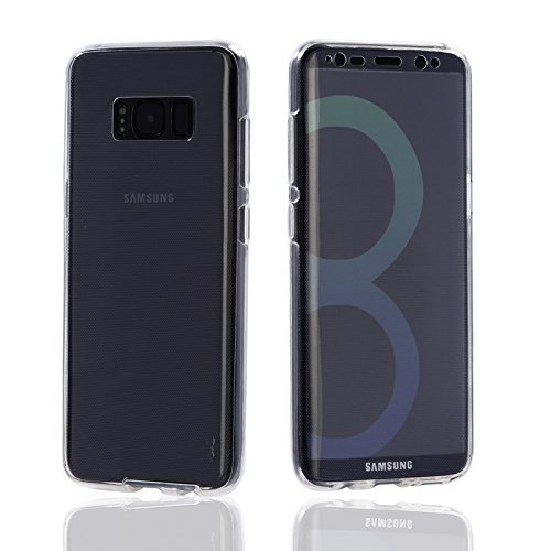 Samsung Galaxy S8 Front and Back 360 Clear Soft case Cover by Labrador  Trasparent