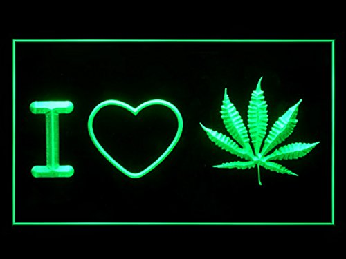 I LOVE MARIJUANA Weed Hemp Display Led Light Sign